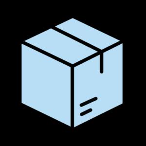 caja azul packs
