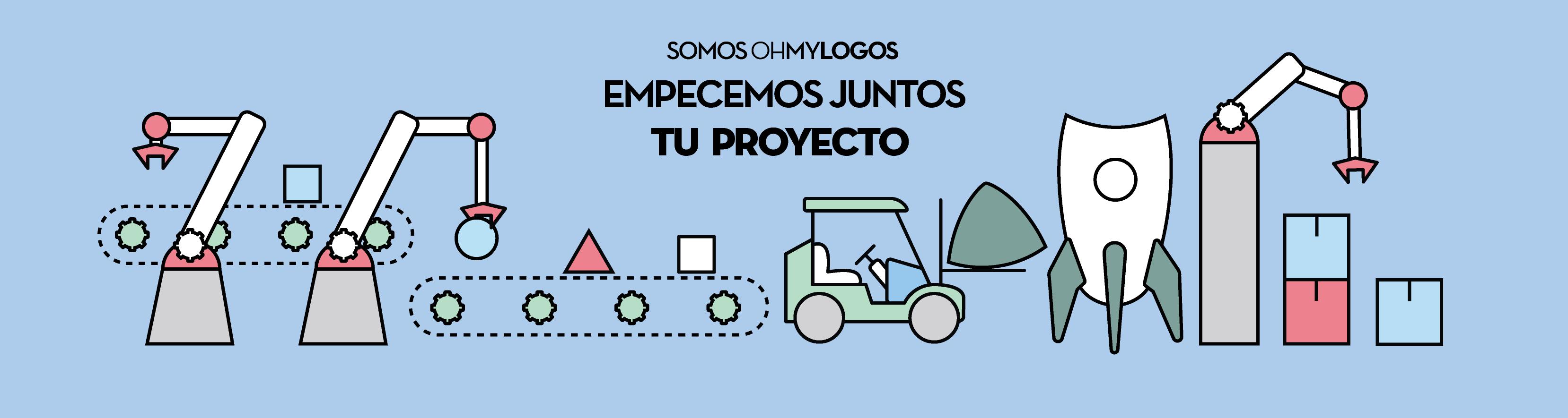 empezemos juntos tu proyecto oh my logos banner branding diseño grafico